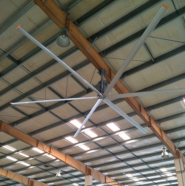 HVLS Industrial Cooling Inverter Ceiling Fan , 22 FT 6.6m Big Ass Huge Ceiling Fan