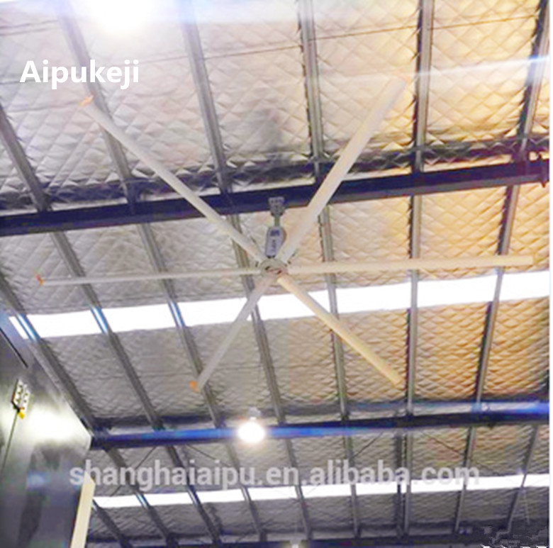 28 FT Giant Ceiling Fan / Ventilation Exhaust Ceiling Fan With Italy Bonfiglioli Motor