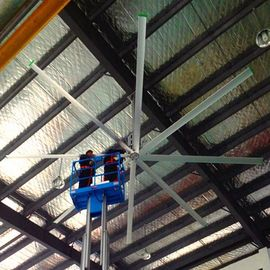 22ft HVLS Workshop Ceiling Fans Volume Tinggi Low Speed ​​Penghematan Energi Ceiling Fans